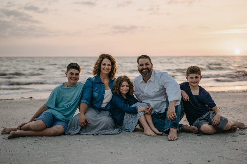 family photography in Fort Myers Beach Florida